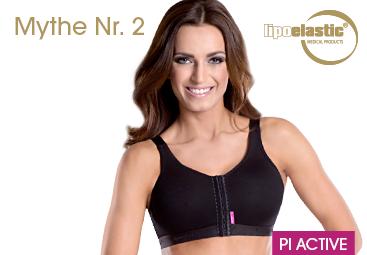Mythe Nr. 2: Het is aan te raden om geen beha te dragen voor een bepaalde periode na de operatie.