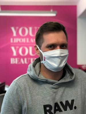 LIPOELASTIC beschermend gezichtsmasker