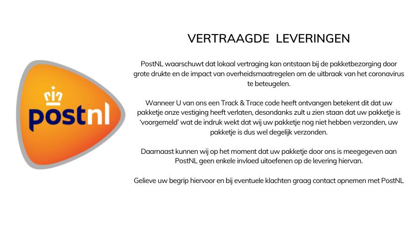 Banner - Vertraagde leveringen PostNL